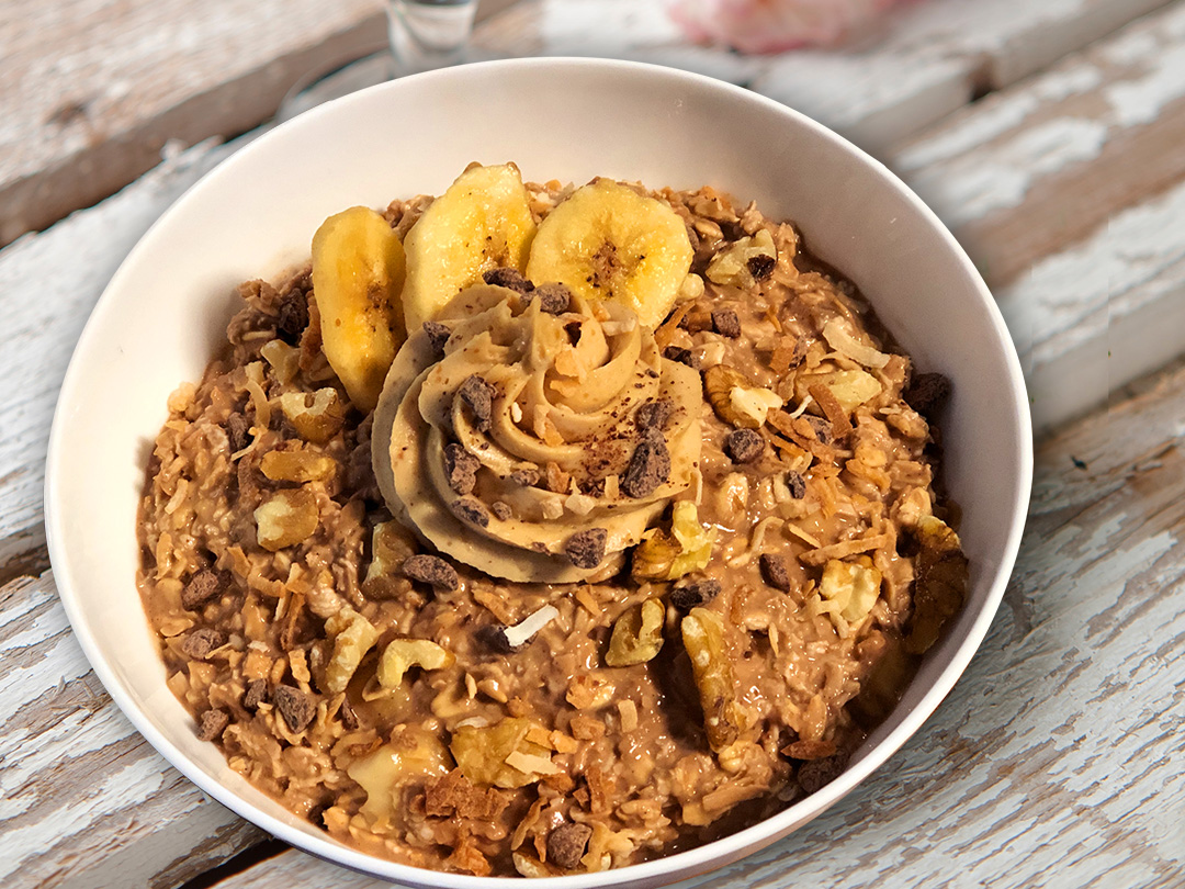 Cocoa Banana Power Oats | Breakfast | 2 Guys with Knives